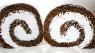 getlinkyoutube.com-How to Make Chocolate Cake Roll 롤케이크 만들기 - 한글자막 Chocolate Jelly Roll