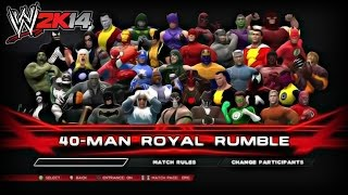 getlinkyoutube.com-WWE 2K14 Royal Rumble: Season Finale (Marvel VS DC)