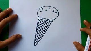 getlinkyoutube.com-Como dibujar un helado paso a paso 3 | How to draw an ice cream 3