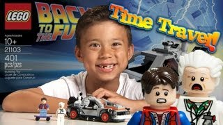 getlinkyoutube.com-Lego BACK TO THE FUTURE DELOREAN - Epic TIME TRAVEL!  Cuusoo #004 Set 21103 time-lapse