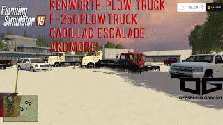 getlinkyoutube.com-Farming Simulator 2015 Mods- GMC Plow Truck, F-250 Plow, Chevy 1500, Escalades and More!