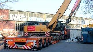 getlinkyoutube.com-HITACHI ZAXIS 350 LONGFRONT BAGGER SCHWERTRANSPORT ++ HAGEDORN ROLF RIEDEL