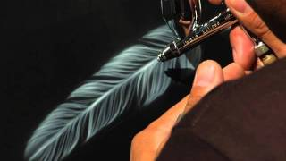getlinkyoutube.com-Airbrush.TV Jonathan Pantaleon Airbrush Feather Tutorial