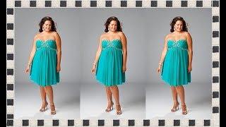 getlinkyoutube.com-MODA 2015   Vestidos de Fiesta Para Gorditas.