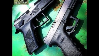 getlinkyoutube.com-CZ P07 VS Glock Model 19 : Two Different Worlds