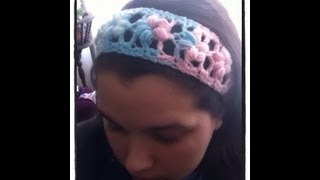 Crochet Puff Flower Stitch Headband