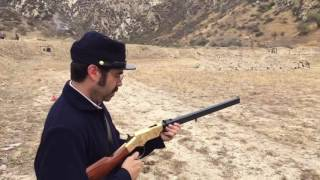 Eric with his 1860 Henry Repeater (Uberti Reproduction, .44-40)