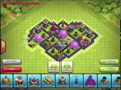 Diseño de aldea Ayuntamiento 7 Farming Base Clash of Clans
