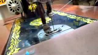 طريقة لضم ماكينة الخياطة السنجر المنزلي الصغيرة العادية
