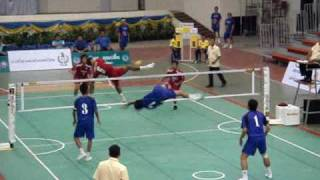 getlinkyoutube.com-SEPAK TAKRAW 2009 Thai Professional League Match 5 Chonburi - Loei Tirathai