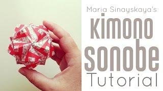 getlinkyoutube.com-Origami Kimono Sonobe Kusudama Tutorial