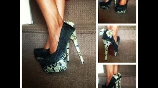 DIY Ankara Shoe Tutorial