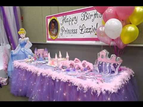Princess birthday party decoration