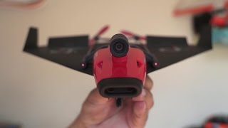 getlinkyoutube.com-PowerUp FPV Paper Airplane VR Drone Indoor Review
