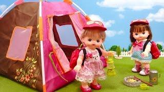 getlinkyoutube.com-メルちゃんキャンプ テントにお泊まり /  Mell-chan Doll Camping Accessory Playset