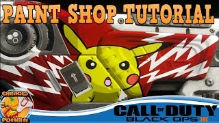 getlinkyoutube.com-Black Ops 3 - Pikachu Pokemon Paint Shop Tutorial