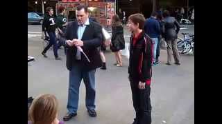 Street Magic With A Balloon In New York City  (Magician Randy Masters)