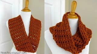 getlinkyoutube.com-Episode 13: How to Crochet the Ginger Snap Infinity Scarf