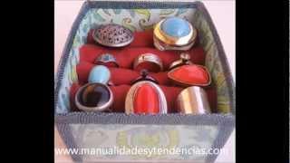 Cómo hacer un expositor de anillos reciclado
