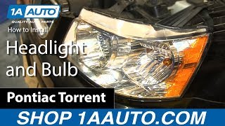 getlinkyoutube.com-How To Install Change Replace Headlight and Bulb 2006-09 Pontiac Torrent