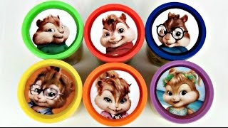 getlinkyoutube.com-Learn Colors with Alvin and the Chipmunks Chipettes: The Road Chip Playdoh Surpise Toy Cans  / TUYC
