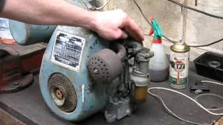 getlinkyoutube.com-Villiers stationary engine start and tune  - Australian 12/2 classic