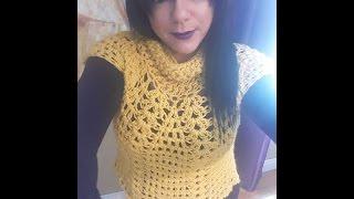 getlinkyoutube.com-Crochet abrigo o sobre todo para principiantes