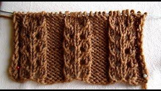 getlinkyoutube.com-ВЯЗАНИЕ СПИЦАМИ ДЛЯ НАЧИНАЮЩИХ! АЖУРНАЯ РЕЗИНКА №3!Knitting