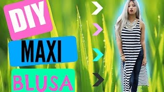 getlinkyoutube.com-DIY maxi blusa