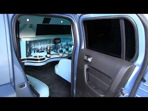 Hummer h3 limousine bleu