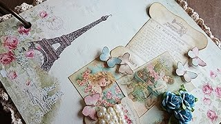 getlinkyoutube.com-DIY: Mini Album - Vintage Paris 1889