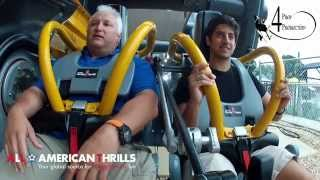 getlinkyoutube.com-Batman: The Ride Reverse POV and POVIn HD at Six Flags Fiesta Texas