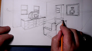 getlinkyoutube.com-2 Pt Perspective Wireframe room