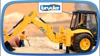 getlinkyoutube.com-JCB 5CX eco Baggerlader -- 02454 -- Bruder Spielwaren