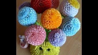 getlinkyoutube.com-Шарики цветы из бумаги своими руками