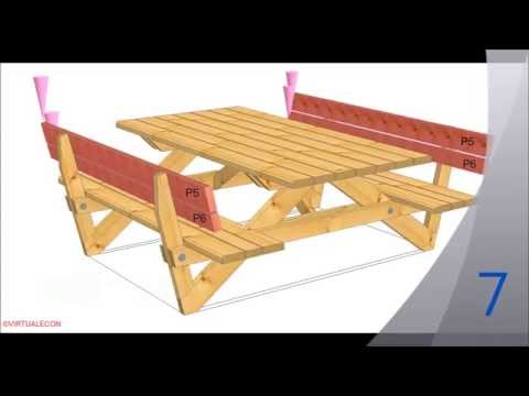 Cum sa faci o masa de gradina cu bancute
