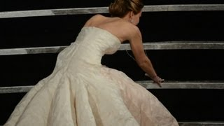 getlinkyoutube.com-Jennifer Lawrence talks about her Oscar fall