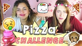 getlinkyoutube.com-PIZZA CHALLENGE! Sfido mia SORELLA! Pizza con SUSHI!!