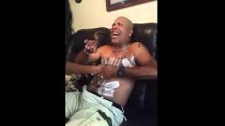 getlinkyoutube.com-PRANK husband waxed on chest while sleeping