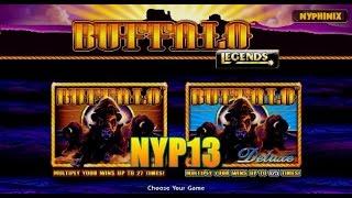 getlinkyoutube.com-Aristocrat Technologies: Legends Series - Buffalo Deluxe Slot Bonus MAX BET ~HUGE WIN~