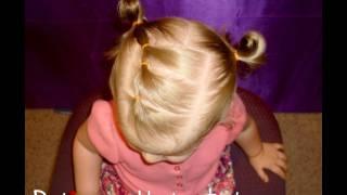 getlinkyoutube.com-Toddler Hairstyles, Elastic Braid Pigtails