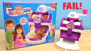 getlinkyoutube.com-The Real 2 in 1 Ice Cream Maker Cra-Z-Art FAIL Toy Review