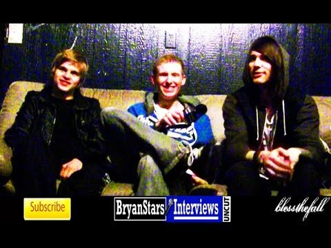 Blessthefall Interview Beau Bokan &amp; Elliott Gruenberg UNCUT 2012