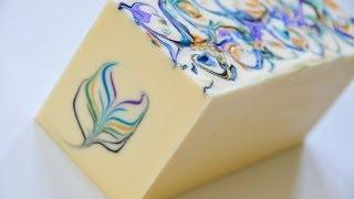getlinkyoutube.com-The Secret Feather Swirl Cold Process Soap