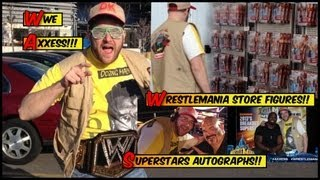 WWE ACTION INSIDER: Wrestlemania Axxess wrestling figures store aisle autographs signings