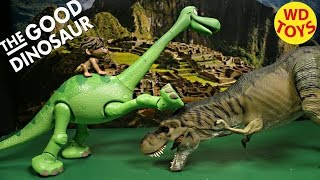 getlinkyoutube.com-Disney The Good Dinosaur Arlo Animated Talking Figure with Spot Pixar Unboxing, Review By WD Toys