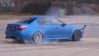 getlinkyoutube.com-BEST of BMW M5 V10!! BURNOUT, DRIFTS, REVS!!