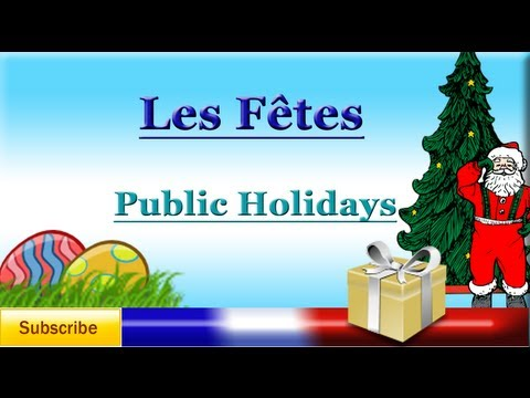 Learn French - Celebrations in French