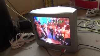 getlinkyoutube.com-Free 2005 Sanyo TV and 1998 Zenith VCR with 4 blank tapes!