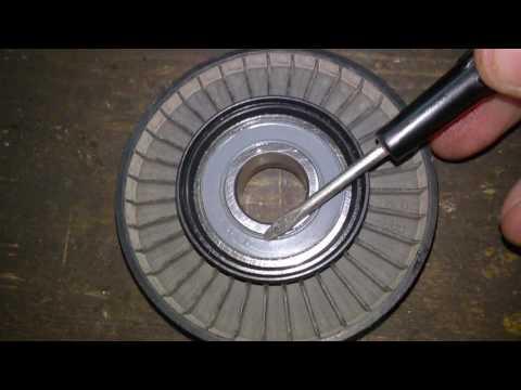 Rover 214i как снять ролик натяжителя ГУР, размеры ролика и подшипника